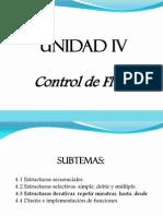 Unidad IV, Control de Flujo