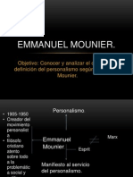 Emmanuel Mounier Diapositivas
