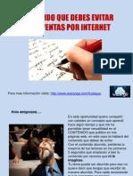 CONTENIDO QUE DEBES EVITAR EN LAS VENTAS POR INTERNET