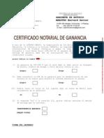 Certificado Ganancia Unesco Bervard