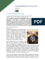 entrevista a vargas llosa en Página 12