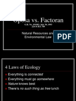 Oposa vs Factoran Powerpoint Presentation