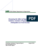 USDA Report re SNAP &  Food Security 08/2013