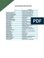 Apadrinamiento Químico Laboratorista 2013