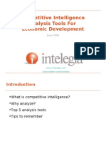 Competitive Intelligence Analysis Tools For Economic Development