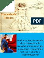 La Educacion y Concepto de Hombre