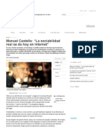 Castells, La Sociabilidad Real Se Da Hoy en Internet