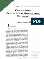 Cuadrilatero Platon Hegel Kierkegaard Nietzsche - Jorge Manzano
