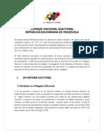 INFORME CONVENCIÓN DE NO DISCRIMINACIÓN RACIAL CNE