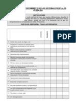 Escala Conductual de Sistemas Frontales (FRSBE)