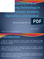 presentation on Adoptability of Grid Computing Technology inPower Systems Analysis, Operations and Control