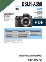 Sony Dslr-A350 Service Manual Ver 1.8