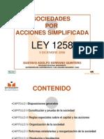 Ley 1258 de 2008 Sociedades Por Acciones Simplicadas