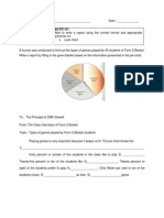 Writing Reports Pie Charts