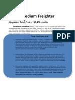 Star Wars - Barloz-Freighter Upgrade Journal