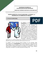 Generalidades de la Salud Ocupacional (2009)
