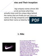 Inception of 25 Companies