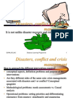 Disasters, Conflict and Crisis Management