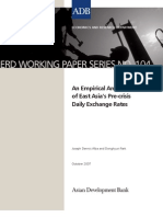 An Empirical Analysis of East Asia's Pre-crisis Daily Exchange Rates