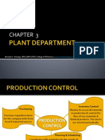 Chapter 3 the Plant Department