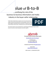 The Value of B‐to‐B