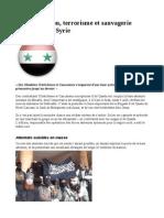 Désinformation, terrorisme et sauvagerie tchétchène en Syrie