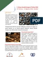 Dünya Gençlik Kongresi Özet Bilgi