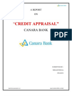 Credit Appraisal Canara Bank