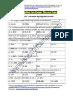 Air India Sample Aptitude Placement Paper