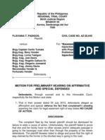 Motion to Hear Affirmative Defensesl