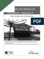 LA VIABILITE DES RADIOS DE PROXIMITE – MODULE II - Une Guide de Formation (Radio for Peacebuilding Africa, SFCG – 2010)