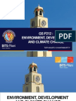 Introduction to Environment, Development and Climate Change
