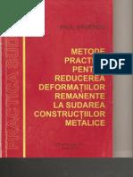 P. Badescu - Metode Practice Pentru Reducerea Deformatiilor Remanente La Sudarea Constructiilor Metalice