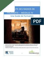 LA VIABILITE DES RADIOS DE PROXIMITE – MODULE 4 - Une Guide de Formation (Radio for Peacebuilding Africa, SFCG – 2010)