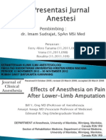 Effects of Anesthesia on Pain After Lower-Limb Amputation