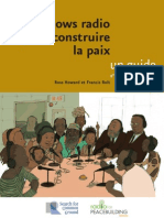 Talk-shows radio pour construire la paix – un guide, 2ème edition (Radio for Peacebuilding Africa, SFCG – 2006)