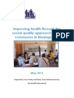 Improving health through the social quality approach in 800 communes in Madagascar (Santénet2 – 2013)