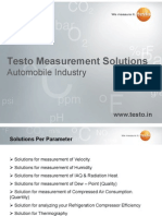 Testo measurement solutions for automobile industry applications