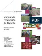 Manual de producción de camote