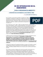 Acuerdos de Integracion en El Hemisferio