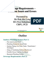 Sewerage requirements
