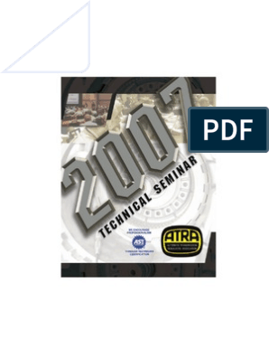 2007 ATRA Seminar Manual | Manual Transmission