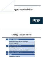 Energy Sustainability-A Snapshot