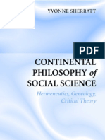Yvonne Sherratt-Continental Philosophy of Social Science (2005)
