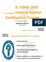 TS 16949 Auditor Course