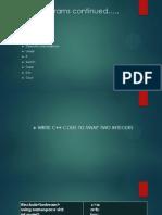 Sample Programs on c++