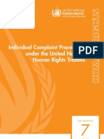 Individual Complaint Procedures under the United Nations Human Rights Treaties