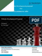 e Commerce website proposal