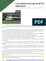 Transportadoras brasileiras têm mais de 40 mil