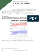 Average Weather in April for Kolkata (Calcutta), India - WeatherSpark